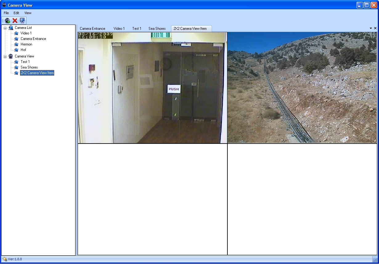 Envitech Envidas Ultimate Camera View Reflecting 2 live video images, one from the outside of a CEM/AQM station and one from the inside of another CEM/AQM site